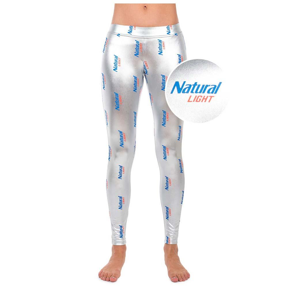 Natural Light Metallic Silver Leggings