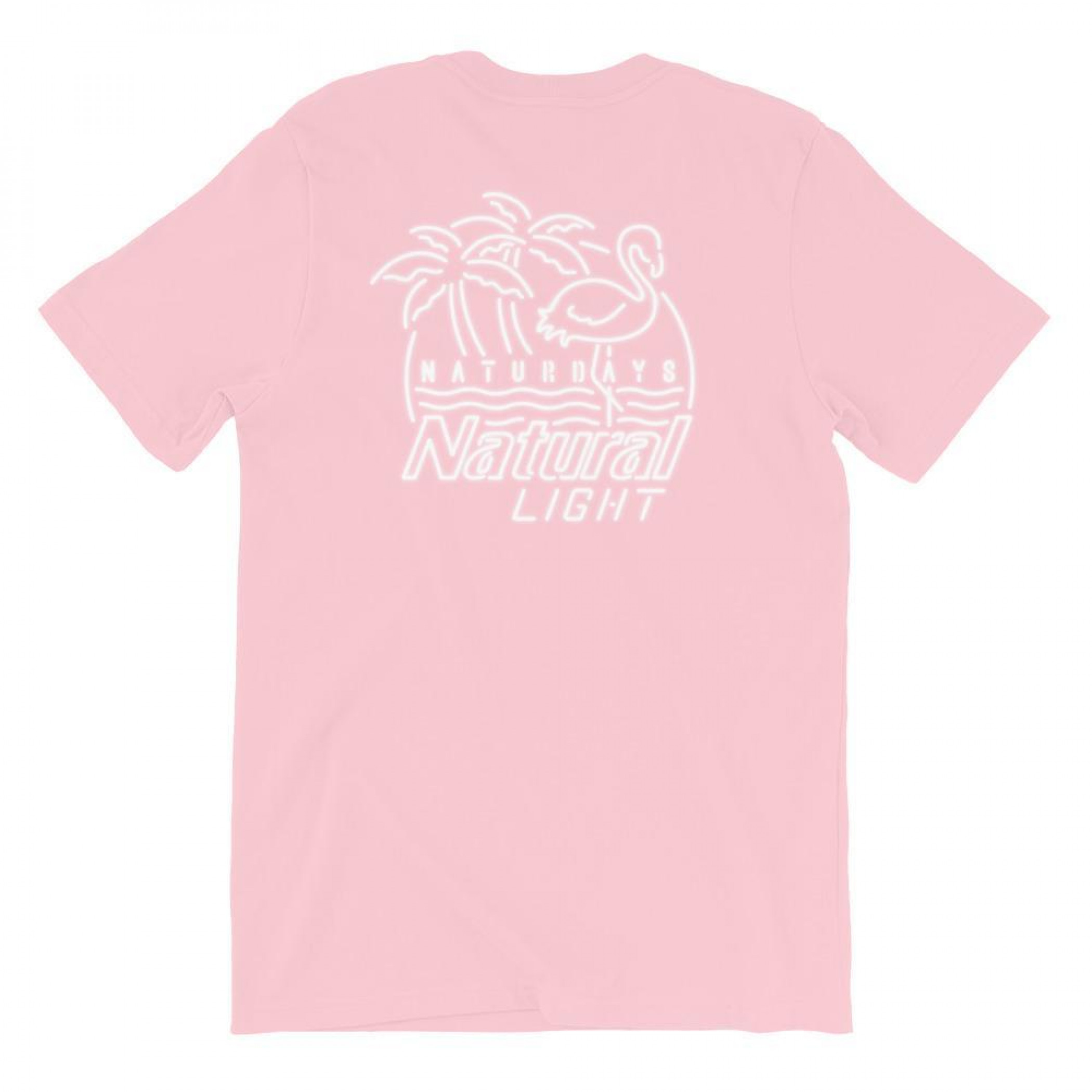 Natural Light Beer Naturdays Light Pink Men's Cotton T-Shirt