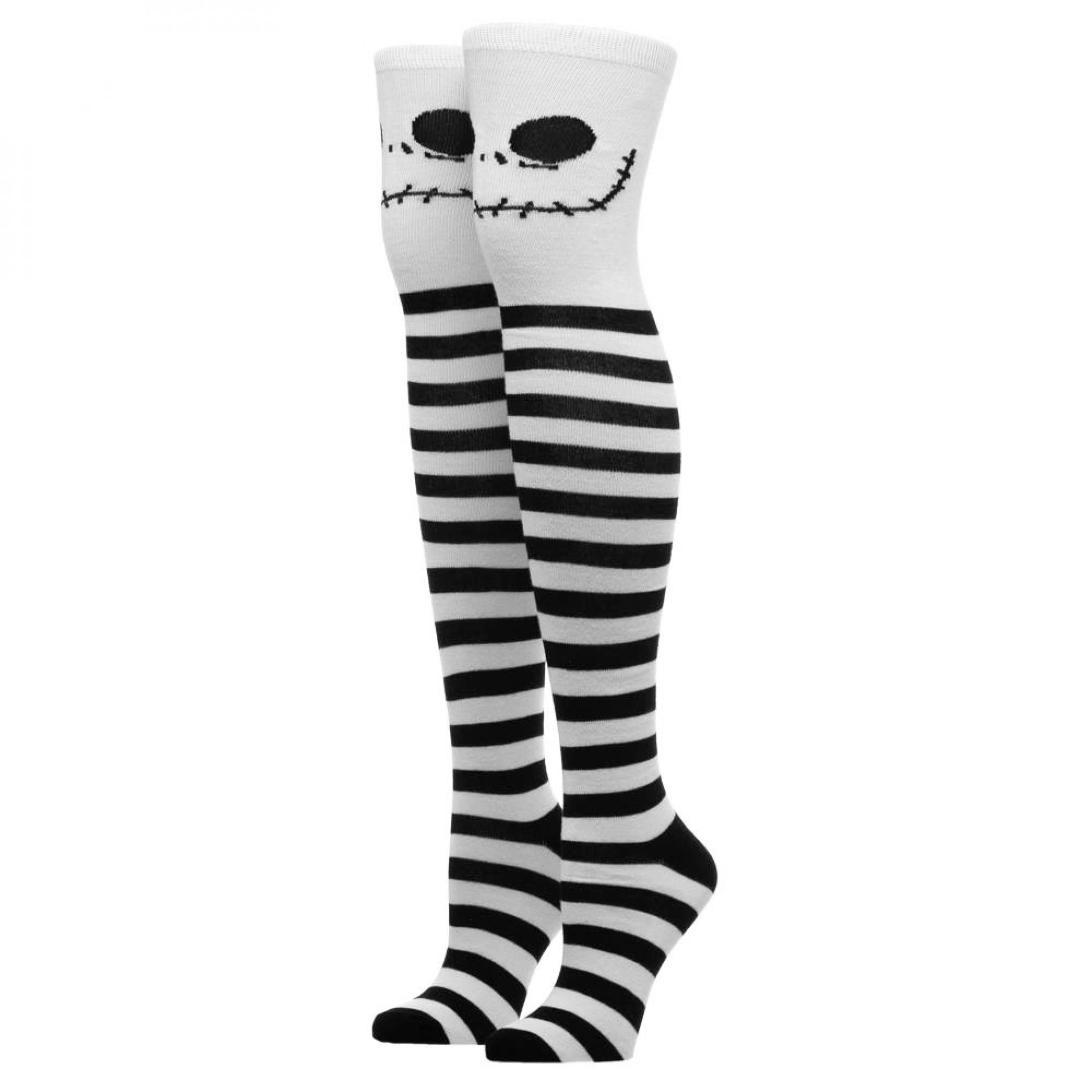 Disney Nightmare Before Christmas Knee High Socks Jack Skellington Faces