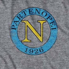 Men's Grey Napoli 1926 Soccer Gray T-Shirt