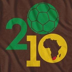 South Africa Soccer Ball World Cup Football Brown T Shirt
