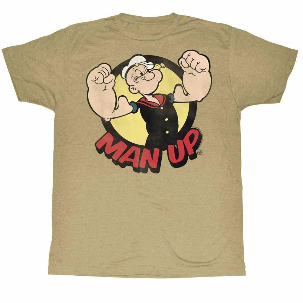 Popeye Man Up Beige T-Shirt
