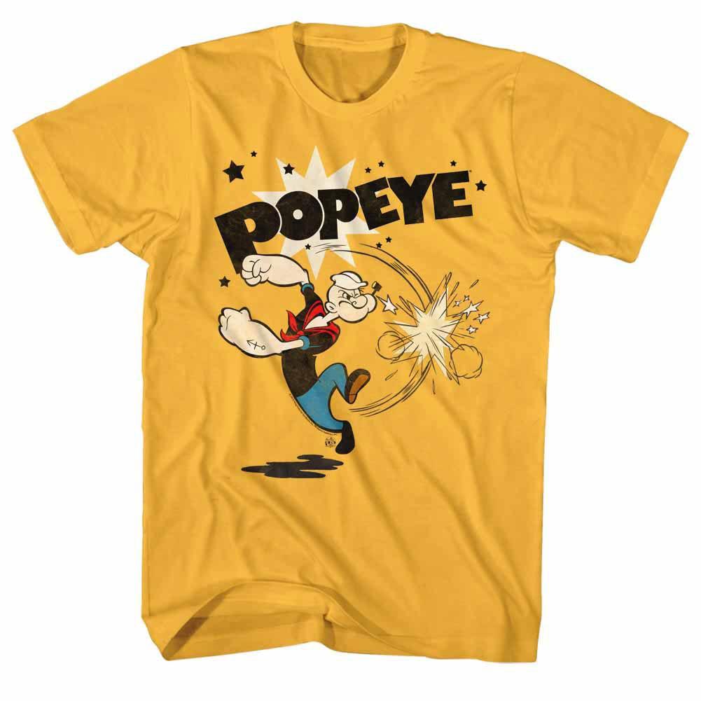 Popeye Punch Yellow T-Shirt