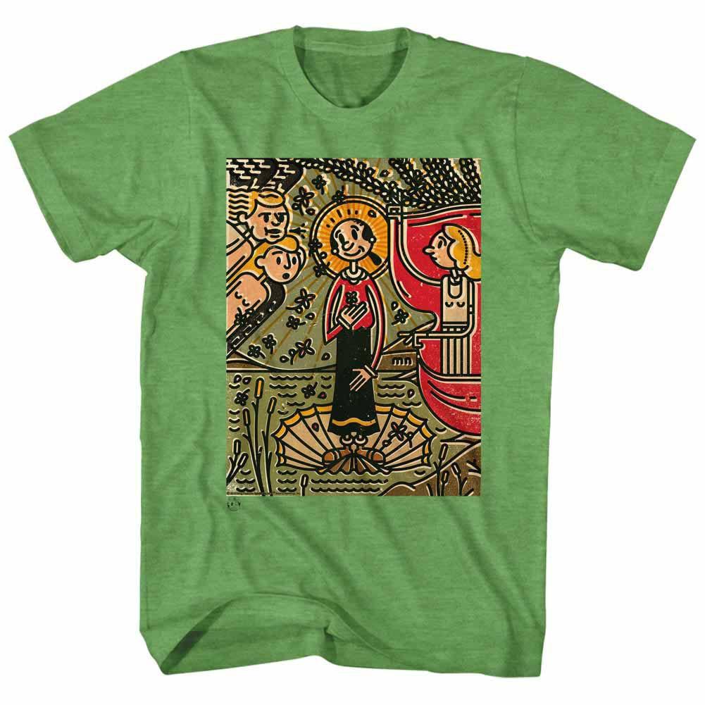 Popeye Mosaic Olive Kelly T-Shirt