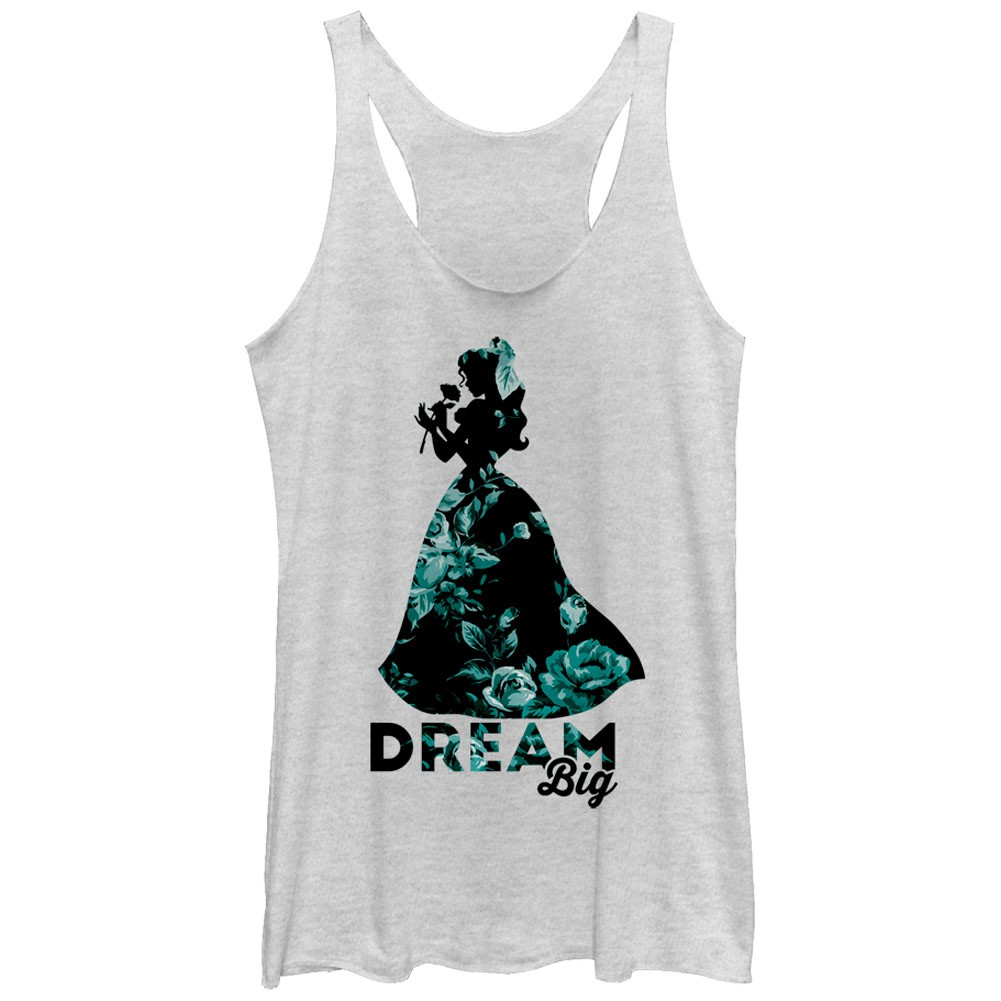 Disney Beauty And The Beast Dream Big White Juniors Tank Top