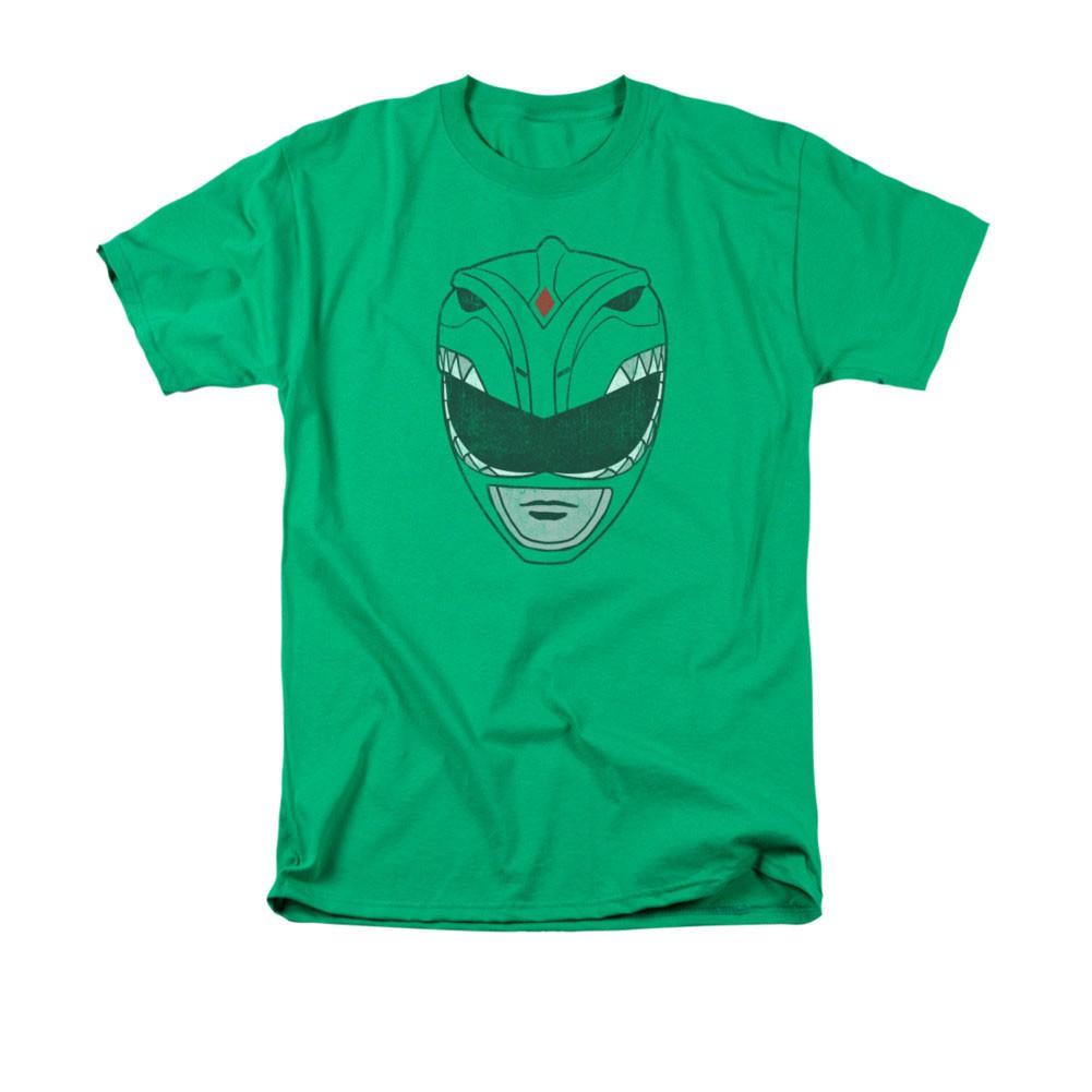 Power Rangers Green Helmet T-Shirt
