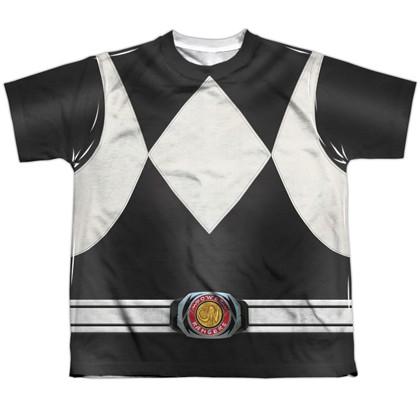 Power Rangers Black Ranger Youth Costume Tee