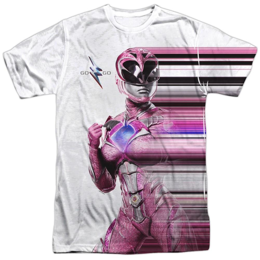Power Rangers The Movie Pink Streak Tshirt