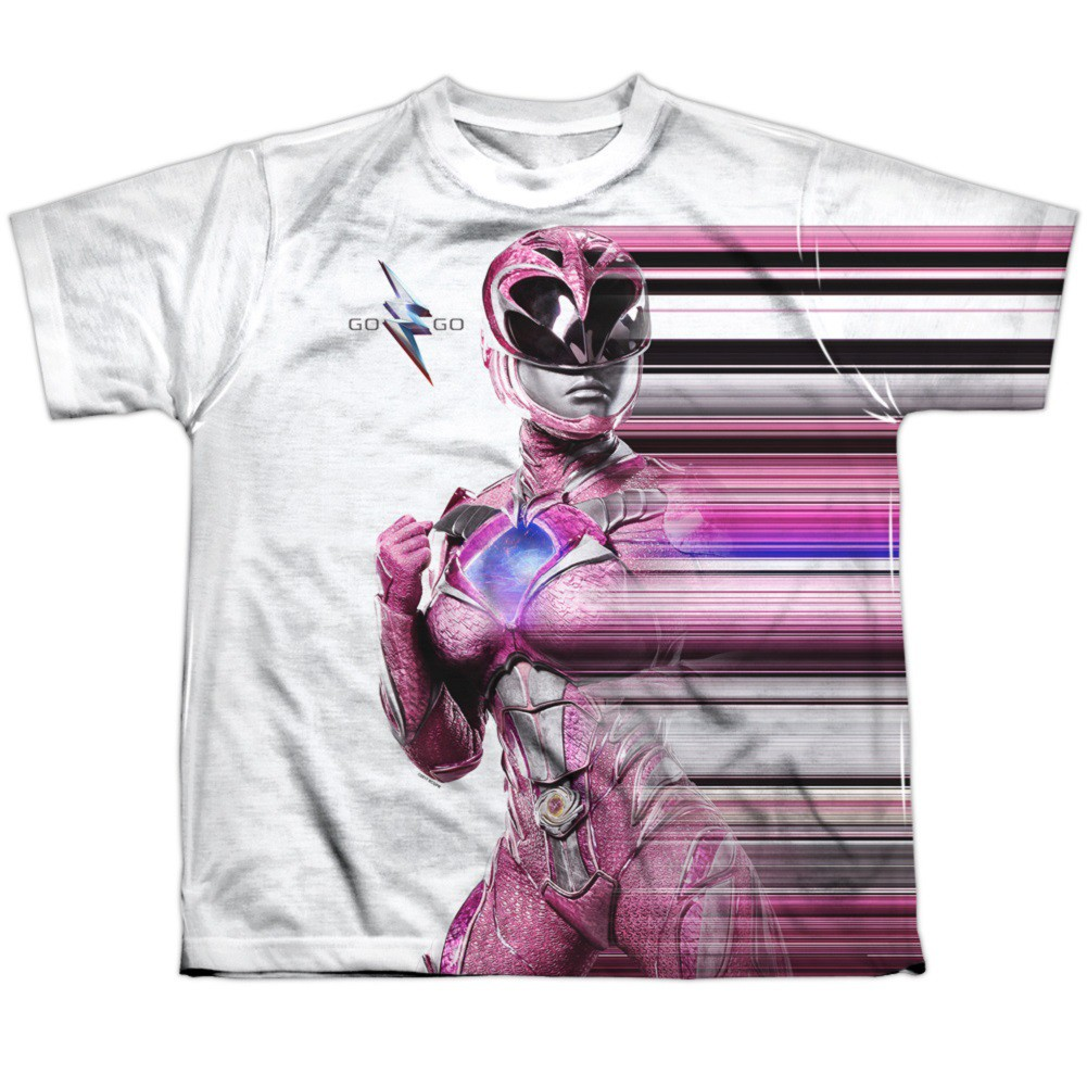 Power Rangers The Movie Pink Streak Youth Tshirt