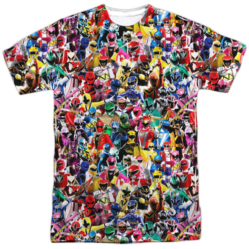 Power Rangers Crowd of Heroes Men's T-Shirt