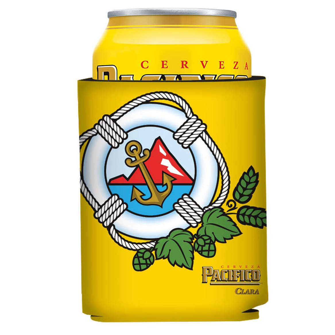 Pacifico Anchor Logo Can Cooler
