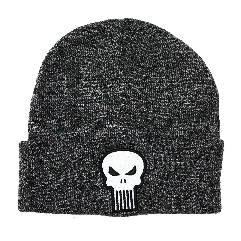 Punisher Skull Logo Grey Winter Hat