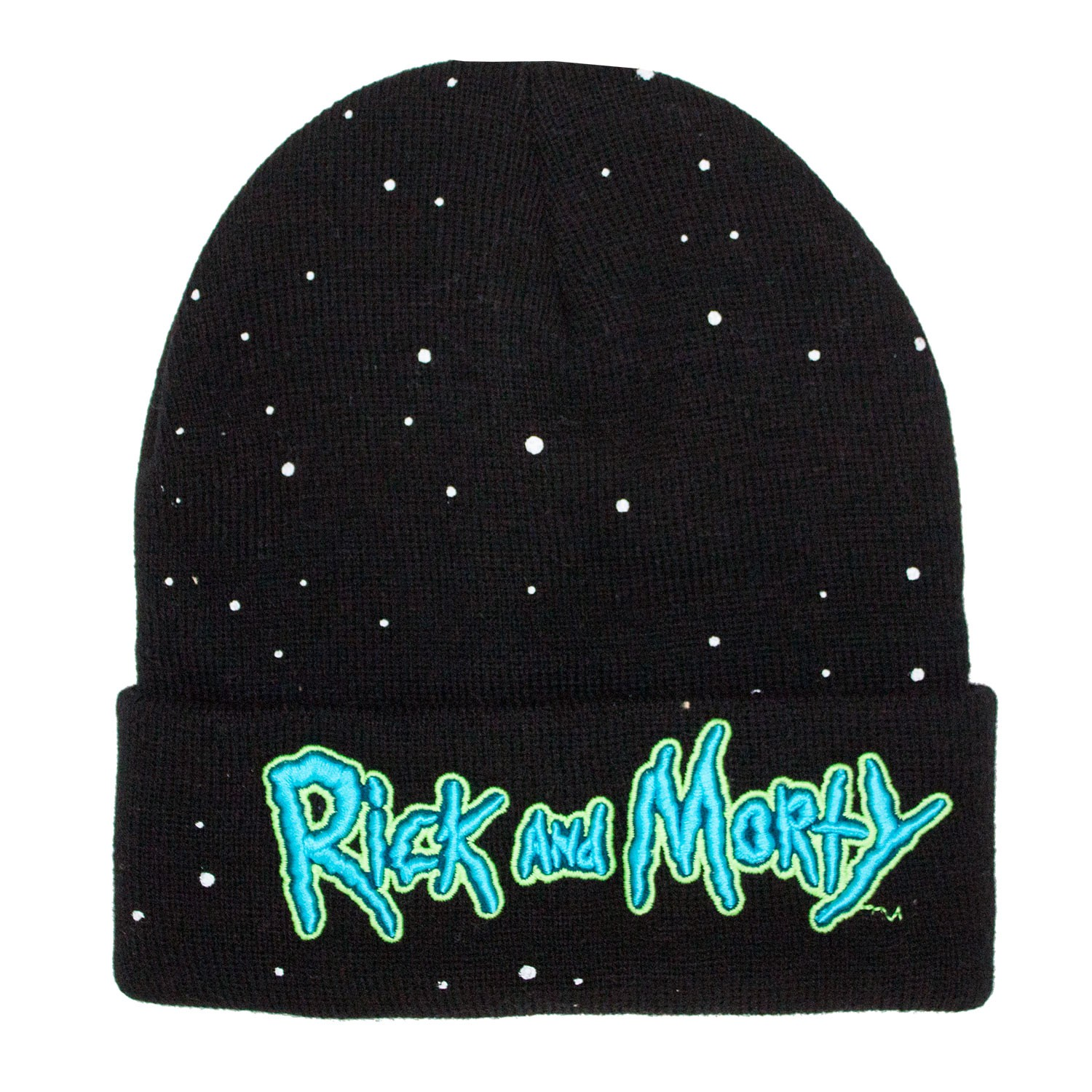 Rick And Morty Glow In The Dark Black Winter Hat
