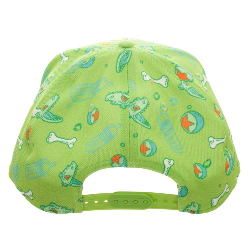 Rugrats Embroidered Logo Green Snapback Hat
