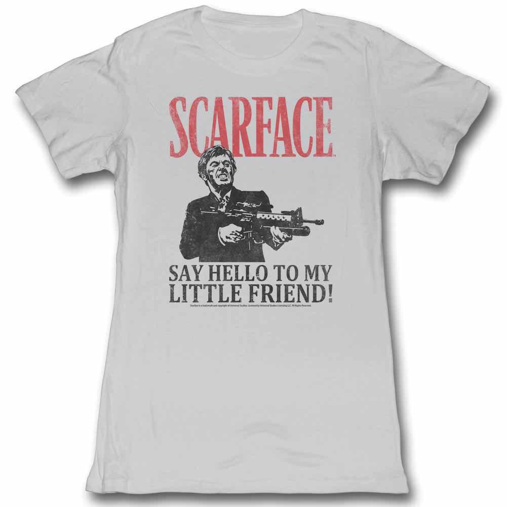 Scarface Say Hello Gray Juniors T-Shirt