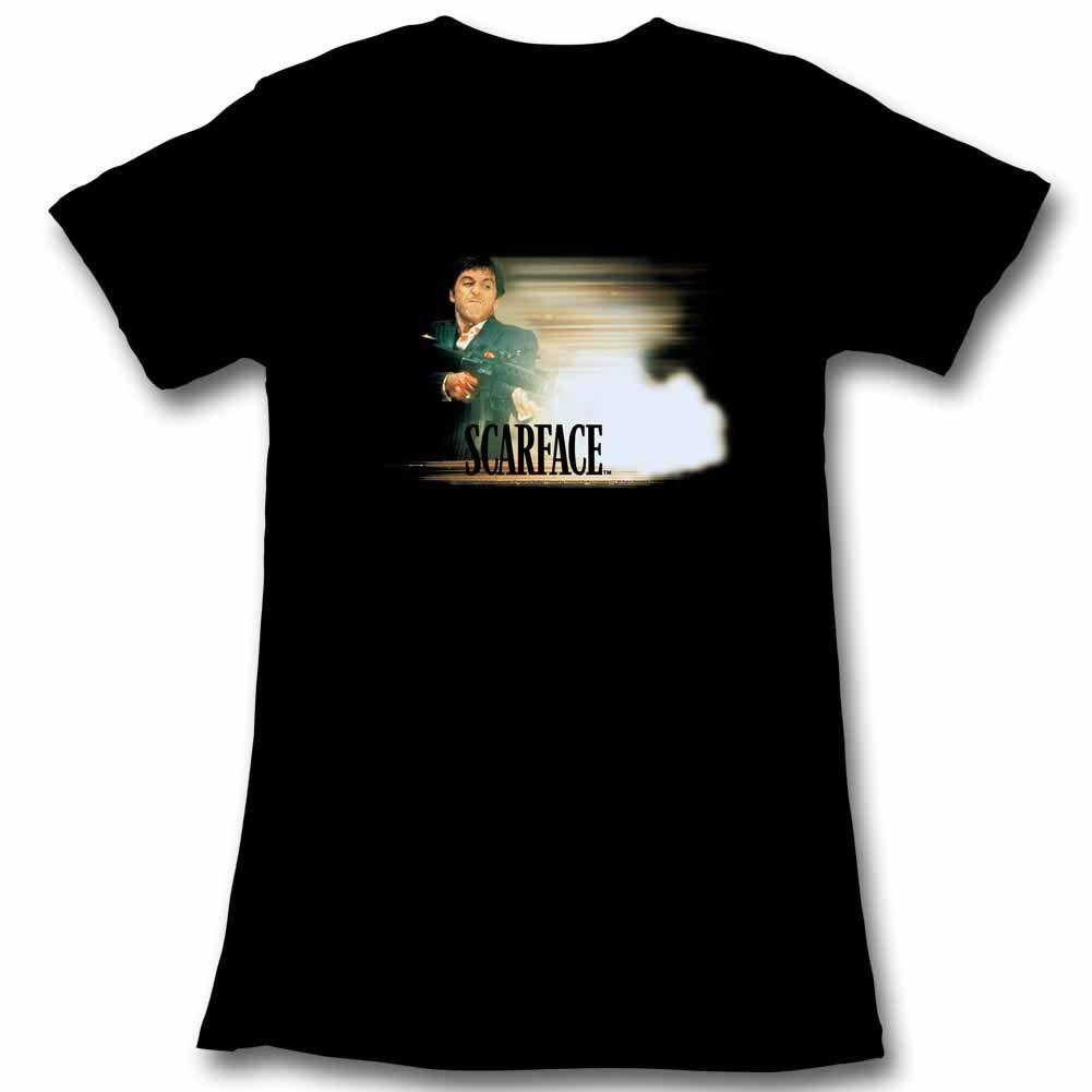 Scarface Glowy Dude Black Juniors T-Shirt