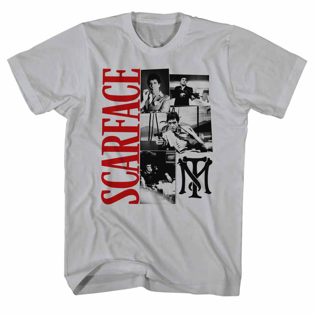 Scarface Montage Gray T-Shirt