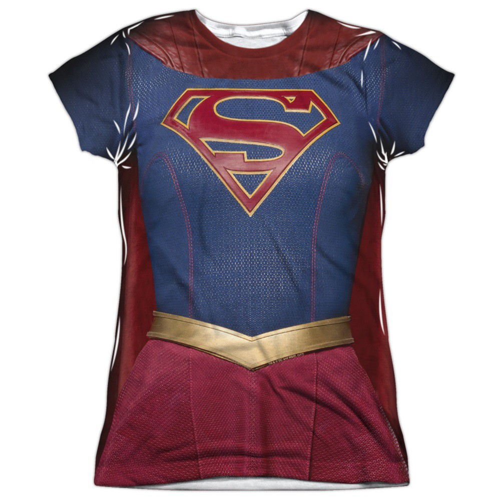 Supergirl Womens Front and Back Print Costume Tee