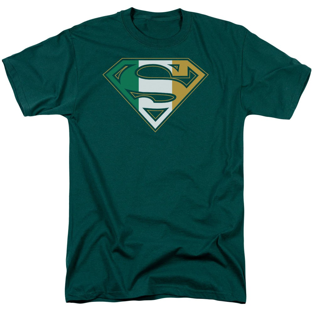 St. Patrick's Day Superman Irish Shield Green T-Shirt