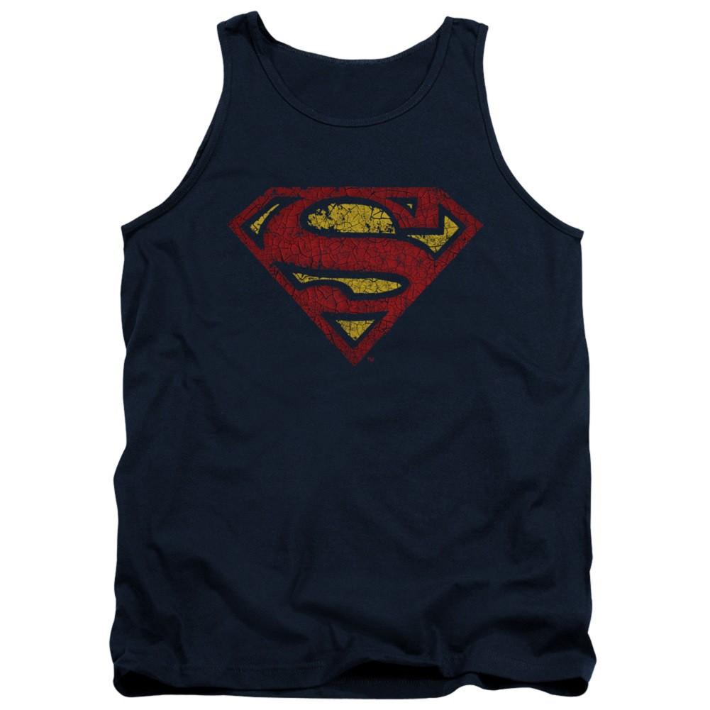 Superman Cracked Logo Tank Top
