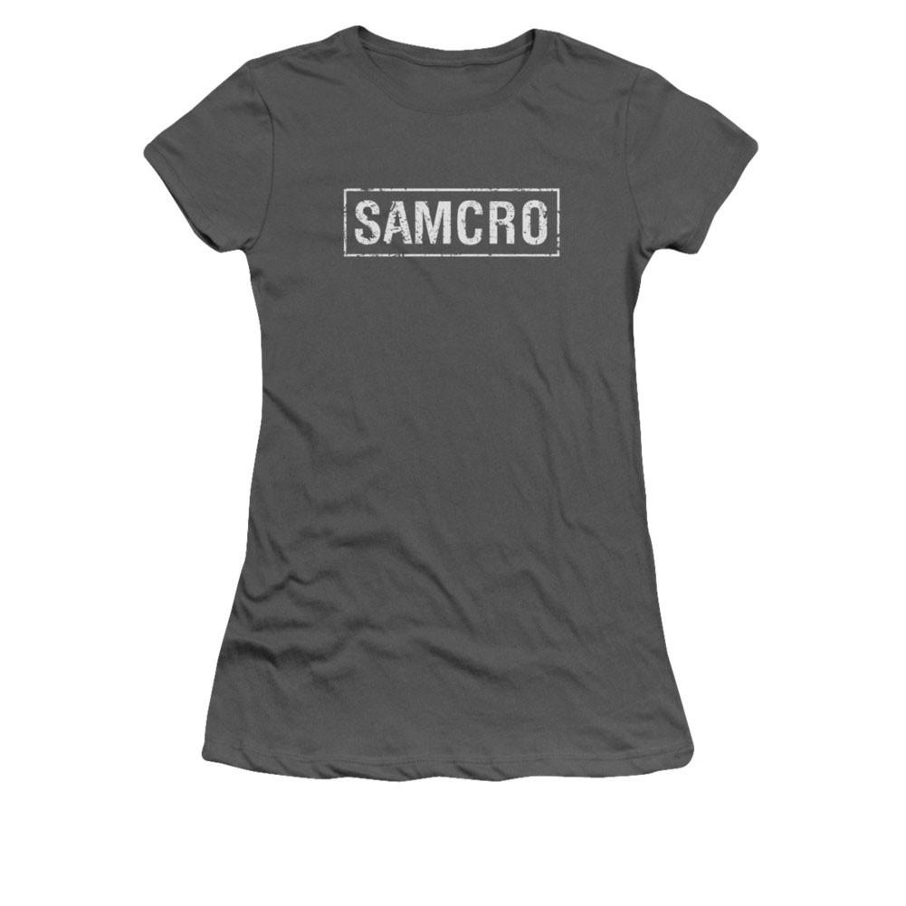 Sons Of Anarchy SAMCRO Logo Gray Juniors T-Shirt