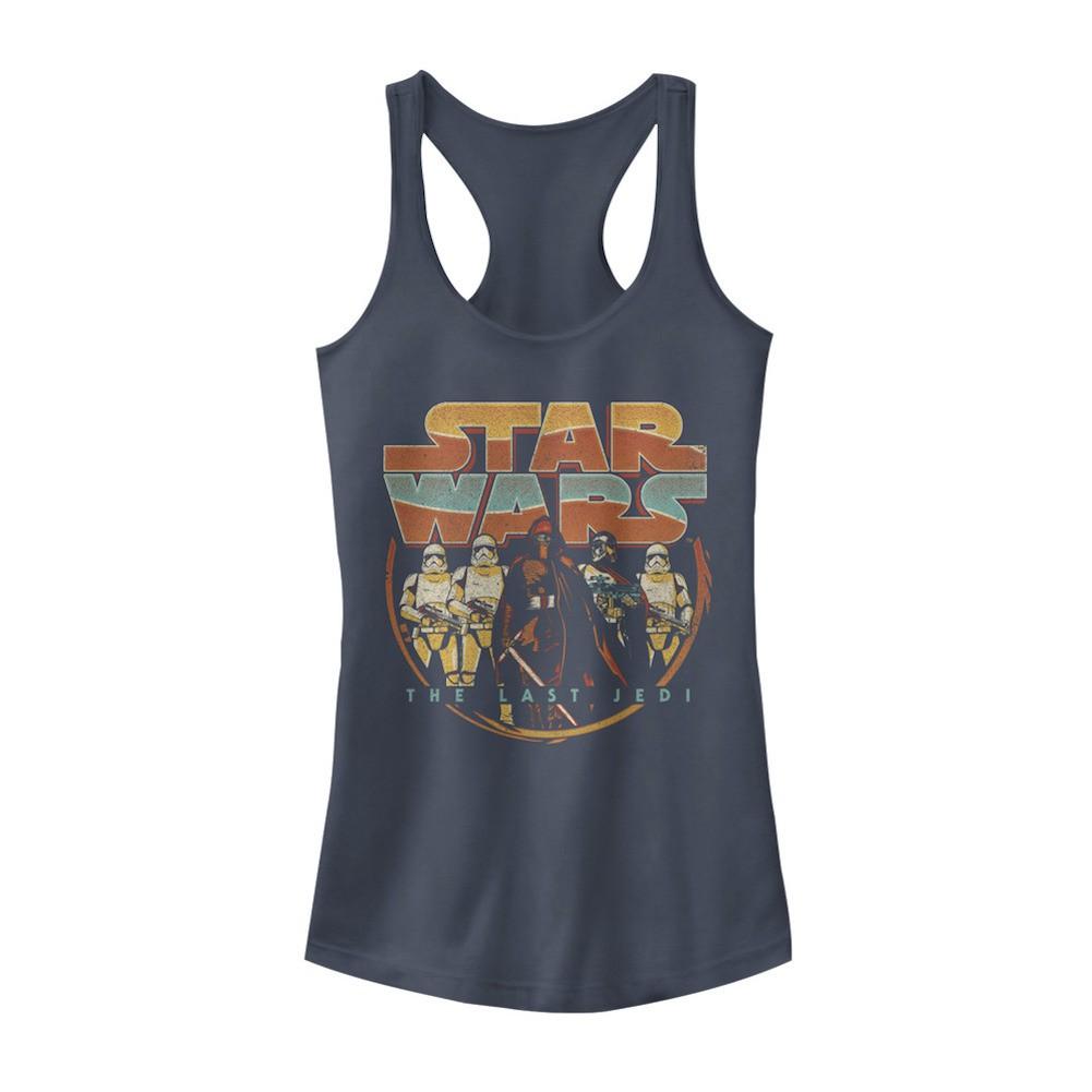 Star Wars The Last Jedi Retro Dark Side Womens Tank Top