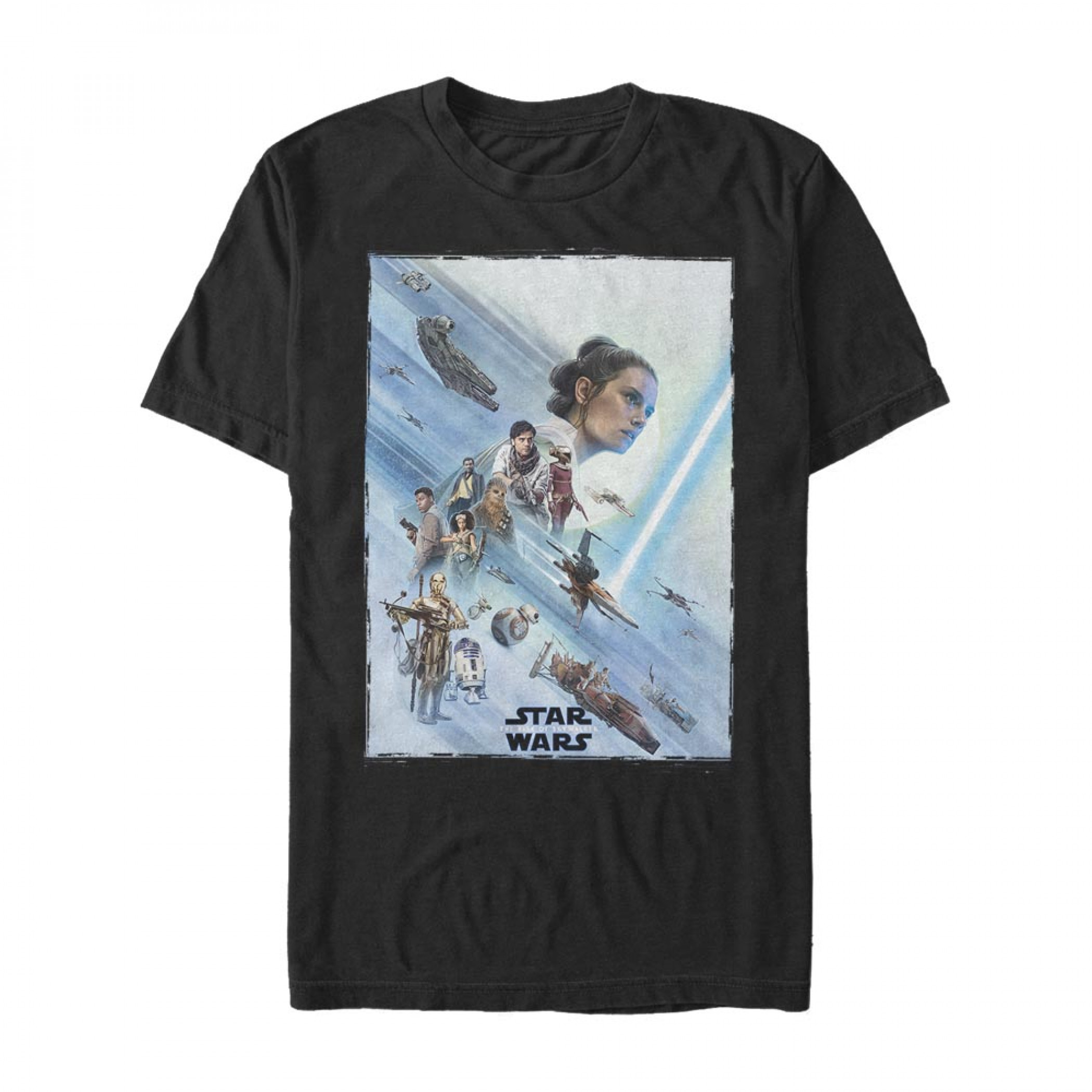 Star Wars The Rise of Skywalker Rey Poster T-Shirt