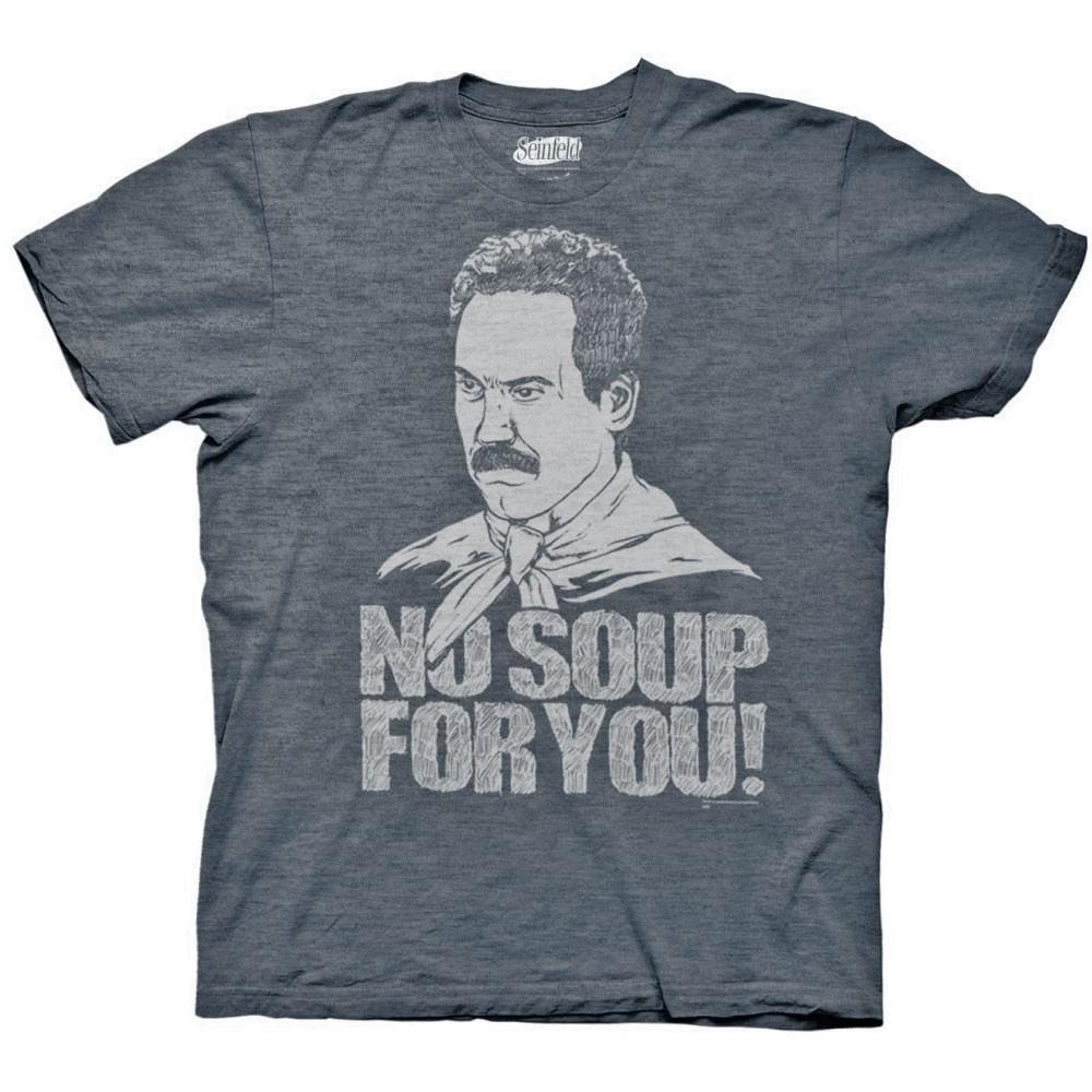 Seinfeld Soup Nazi No Soup For You Blue Graphic T-Shirt