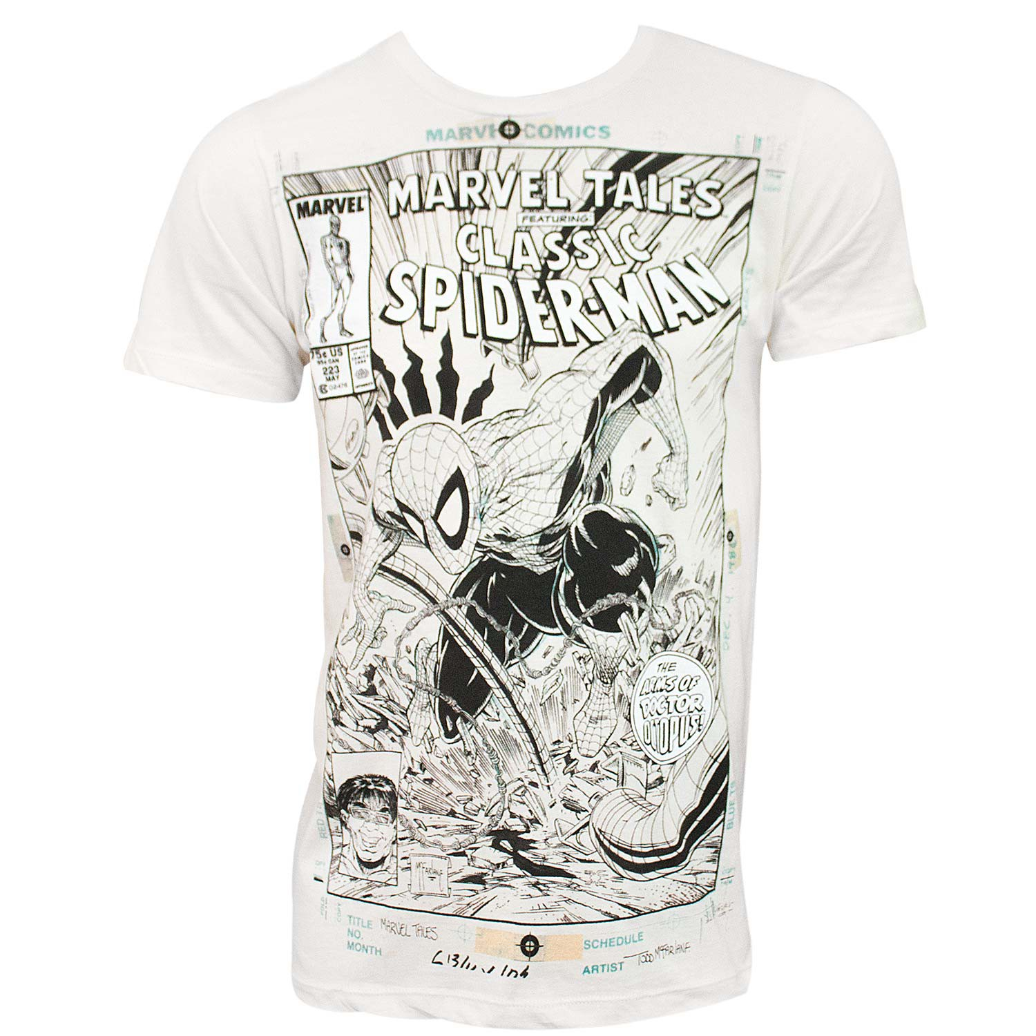 Spider-Man Comic Cover Men's Off-White T-Shirt