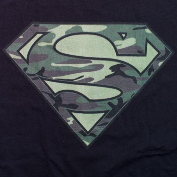 Superman Camo Logo T-Shirt - Black