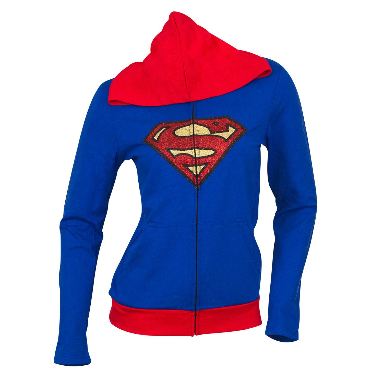 Superman Supergirl Cape Costume Hoodie