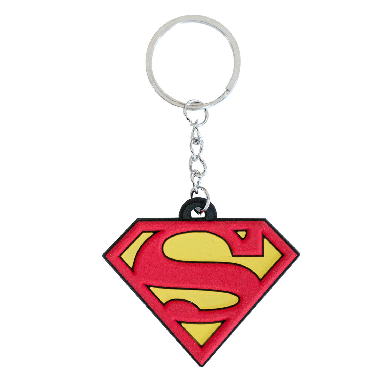 Superman Logo Rubber Keychain