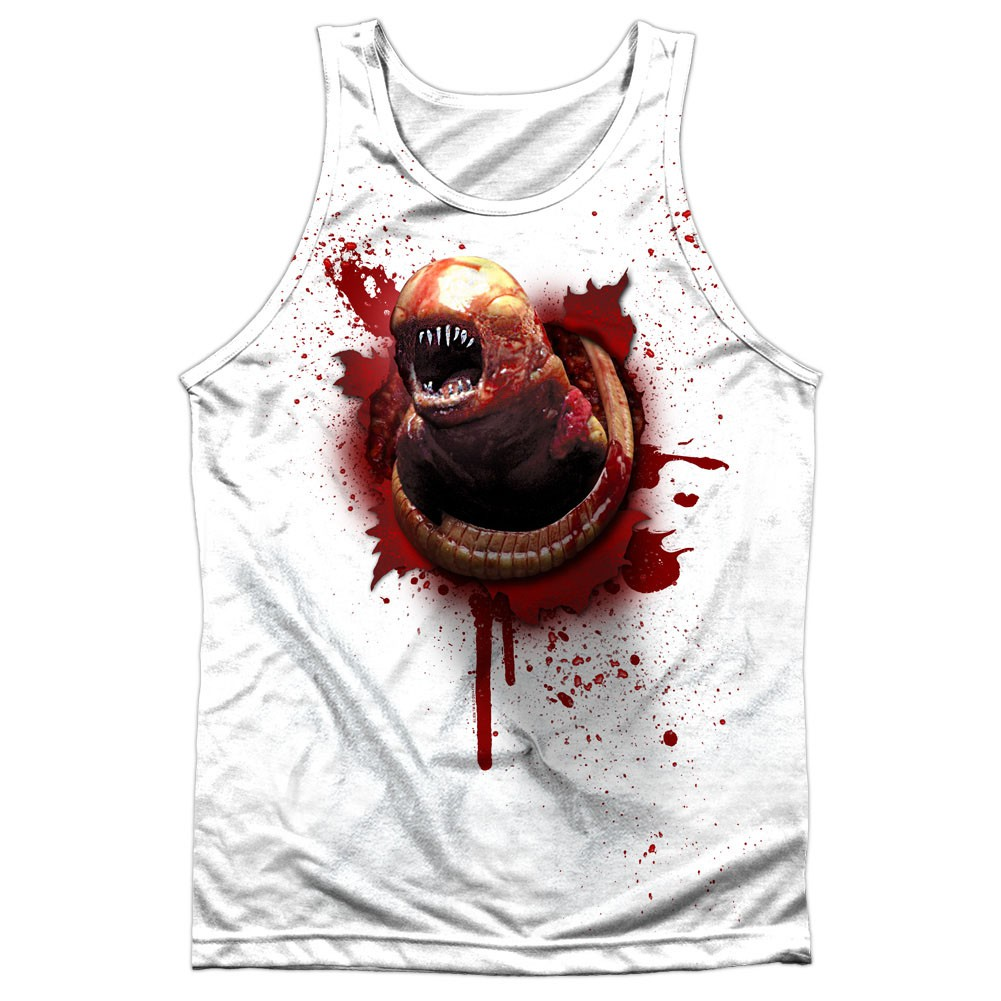 Alien Chestburster White Sublimation Tank Top
