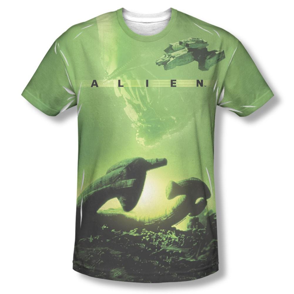 56e3ae8cbfe Alien Ship Green Sublimation T-Shirt