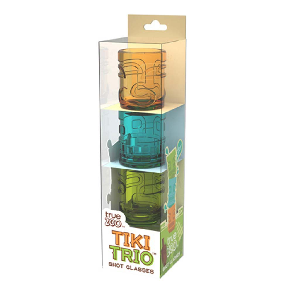 Tiki Trio Multi-Color Shot Glass Set