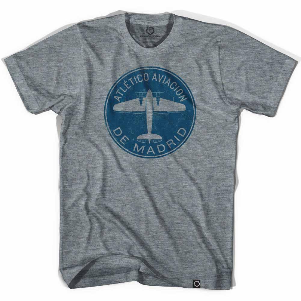 Atletico Madrid Plane Soccer Gray T-Shirt