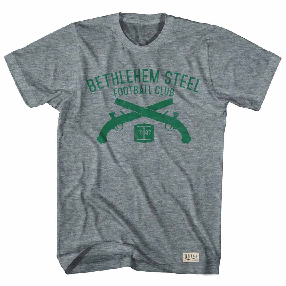 Bethlehem Steel Soccer Club Pistols Gray T-Shirt
