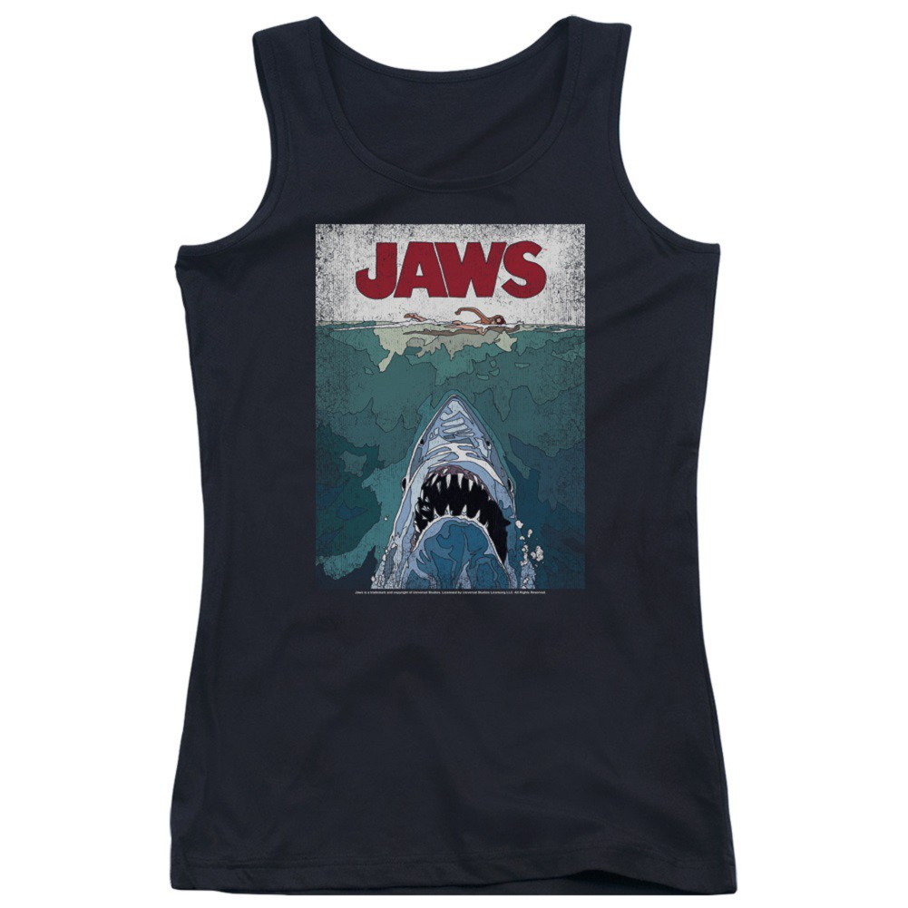 Jaws Movie Poster Women's Tank Top