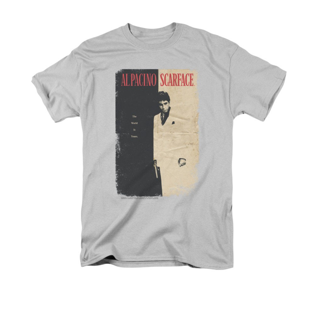 Scarface Vintage Poster Gray T-Shirt