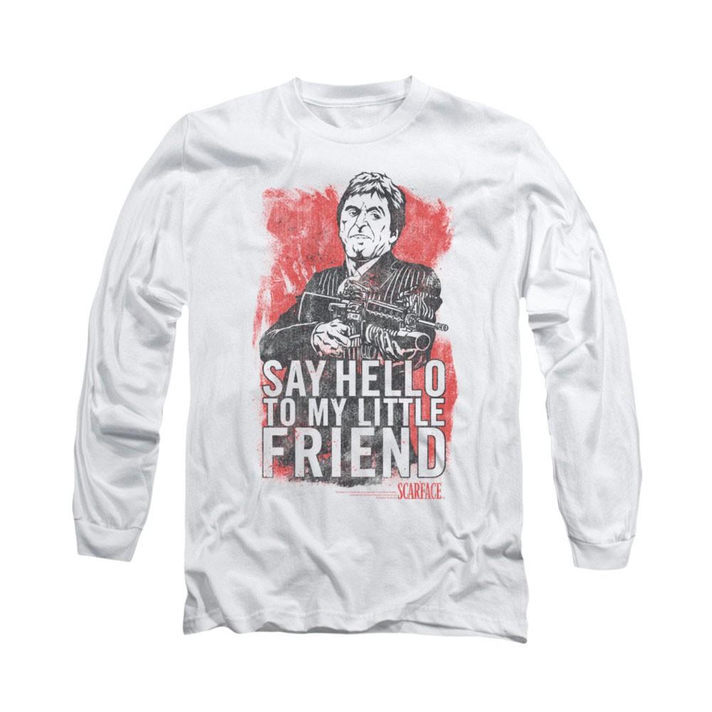 Scarface Little Friend White Long Sleeve T-Shirt