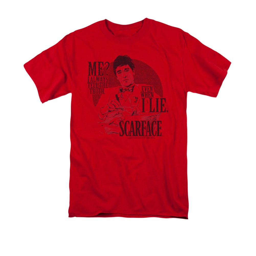 Scarface Tell The Truth Red T-Shirt