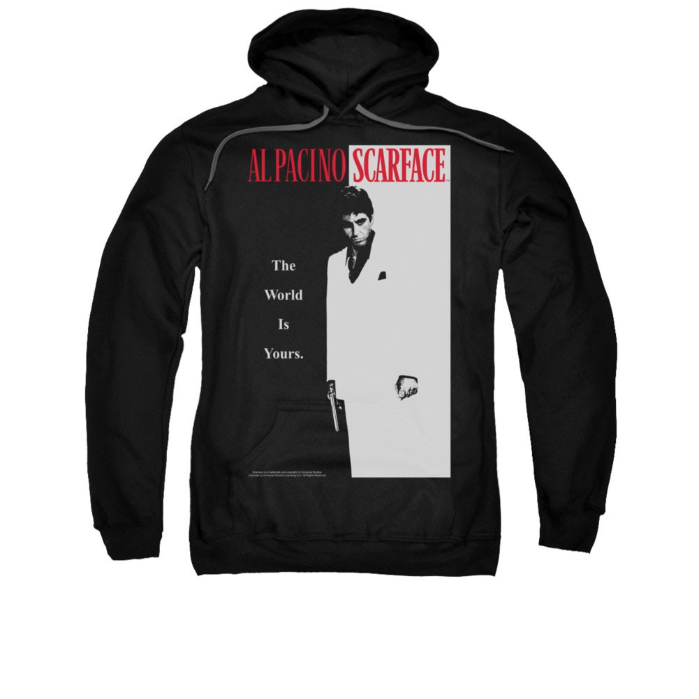 Scarface Classic Poster Black Pullover Hoodie