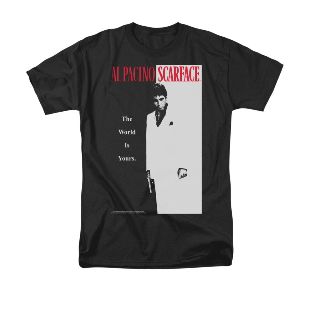 Scarface Classic Poster Black T-Shirt
