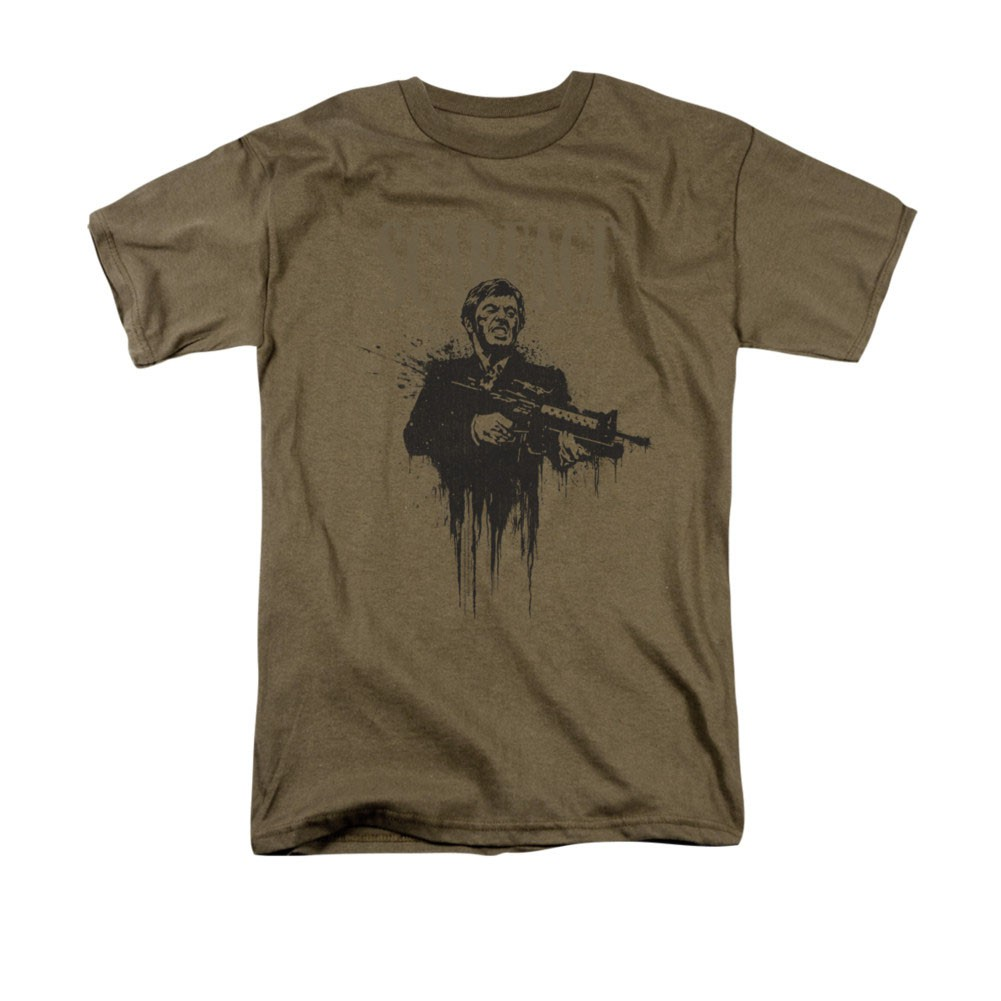Scarface Grimace Brown T-Shirt