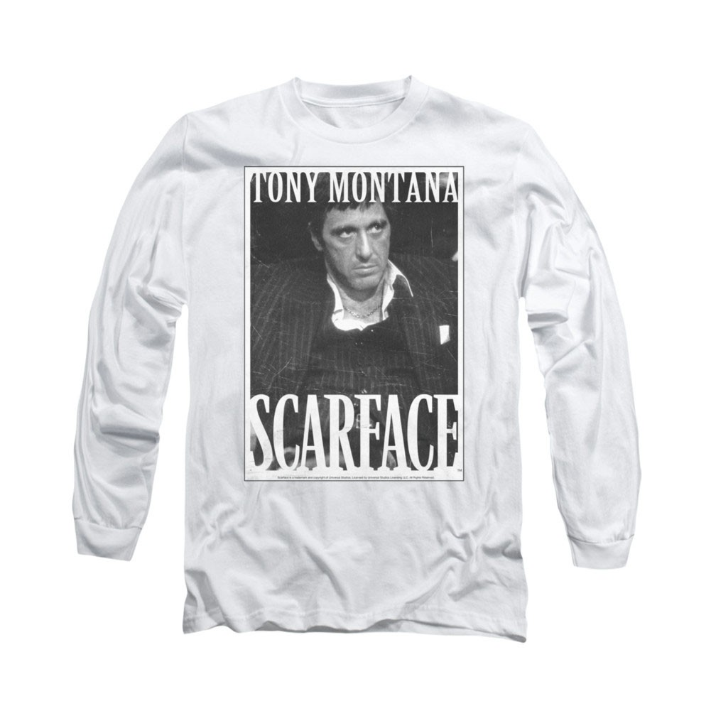 Scarface Business Face White Long Sleeve T-Shirt