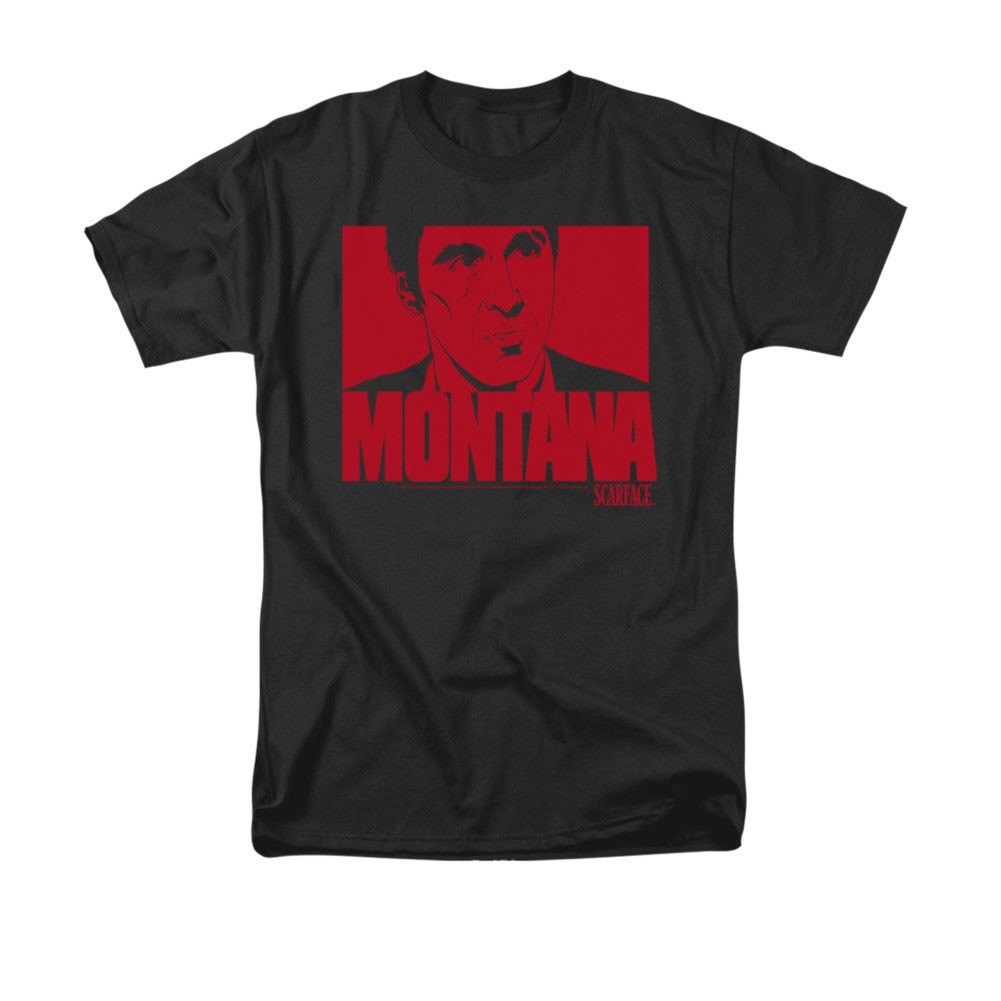 Scarface Montana Face Black T-Shirt