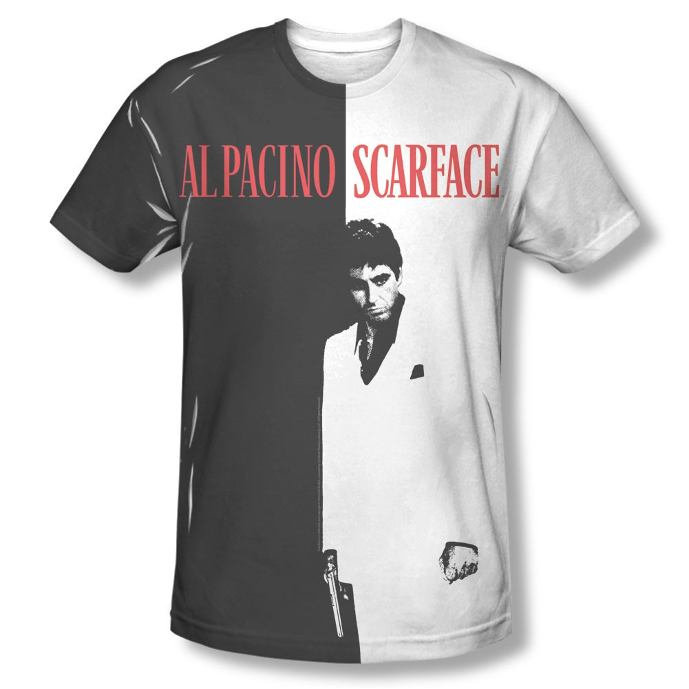 Scarface Movie Poster Sublimation T-Shirt