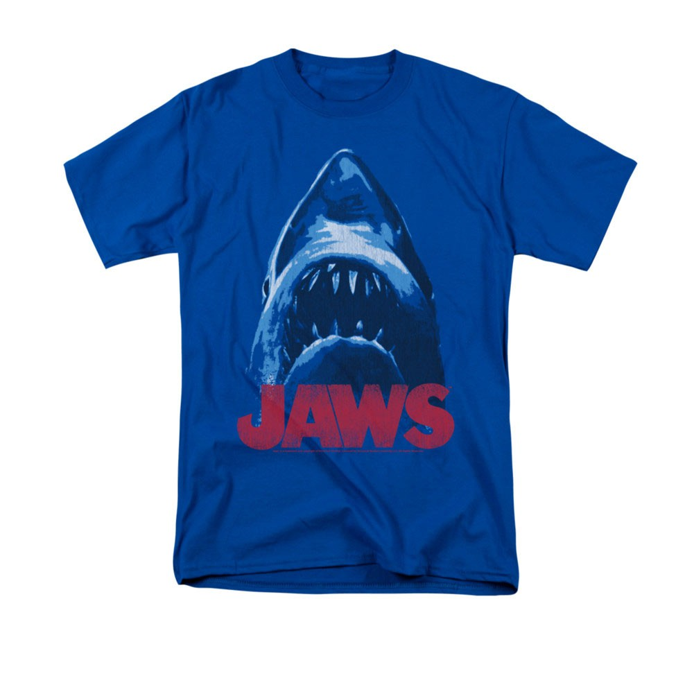 Jaws From Below Blue Tee Shirt