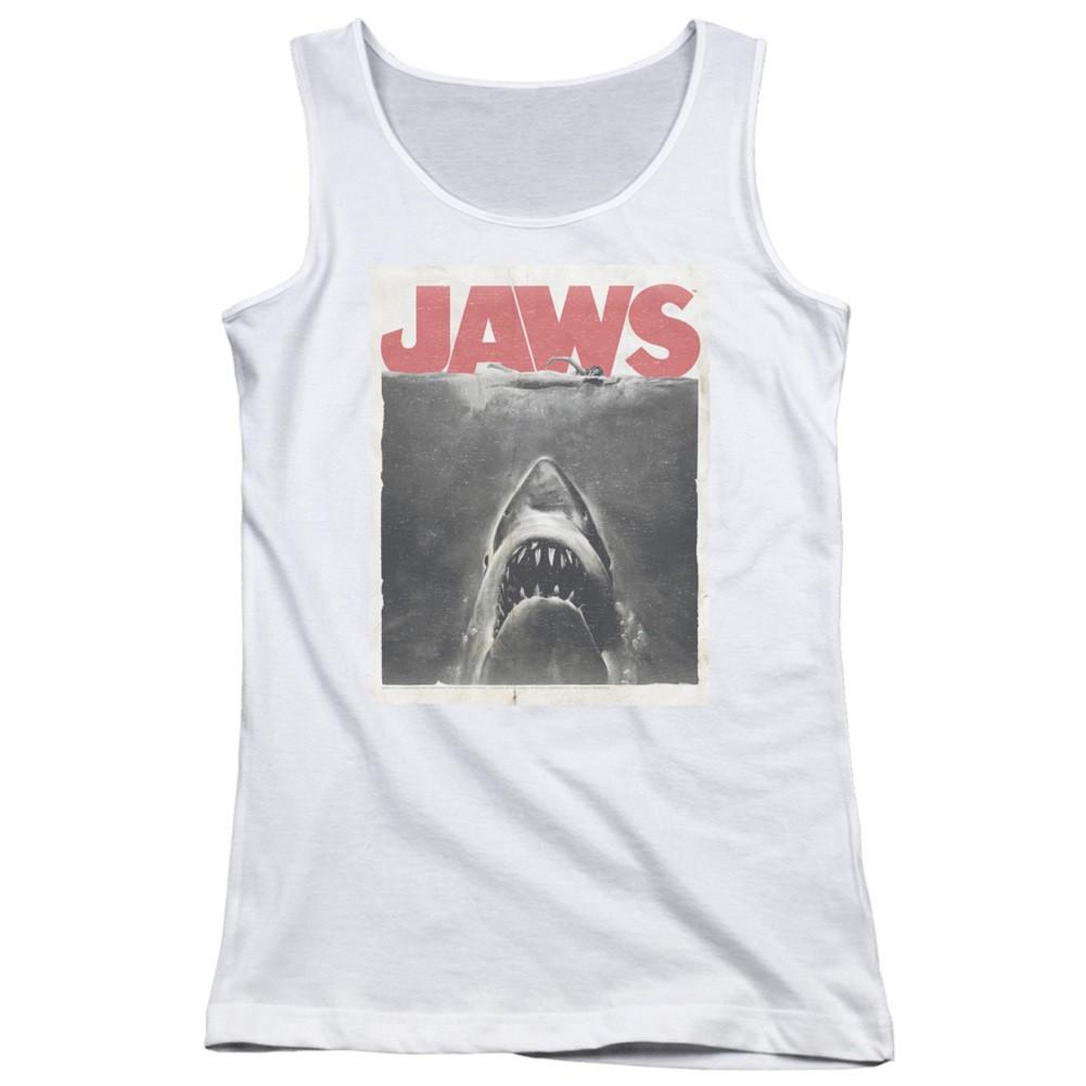 Jaws Movie Poster Women's White Tank Top
