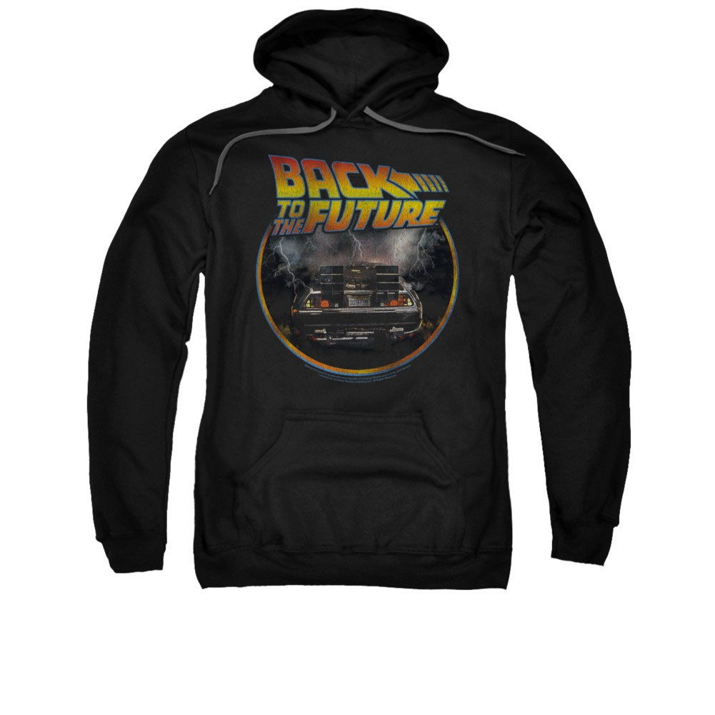 Back To The Future Circle Logo Black Pullover Hoodie
